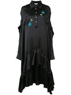 платье с цветочной вышивкой Natasha Zinko
