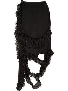 асимметричная юбка с оборками Simone Rocha
