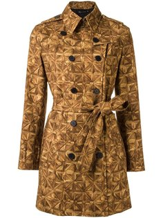 all-over print trench coat Andrea Marques