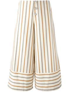 полосатые укороченные брюки See By Chloé