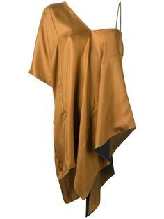 асимметричная блузка с драпировкой Maison Margiela