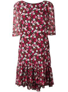 платье с цветочным узором Saint Laurent