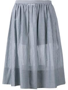 полосатая юбка длины миди Vince