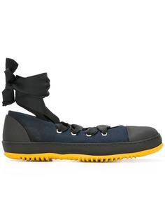 кроссовки-балетки на шнуровке Marni