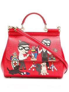 сумка-тоут Sicily с нашивкой  Dolce & Gabbana
