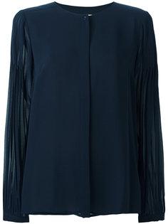 блузка с плиссированными рукавами Michael Michael Kors