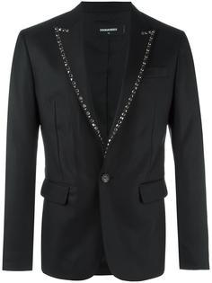 пиджак London Tux с заклепками на лацканах Dsquared2