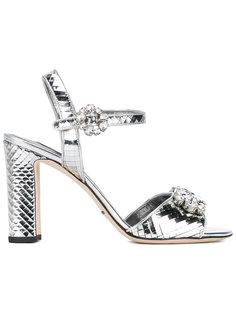 босоножки с зеркальным эффектом и стразами Dolce & Gabbana