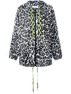 леопардовая куртка с капюшоном Marc Jacobs