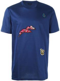 футболка с цветочной вышивкой Lanvin