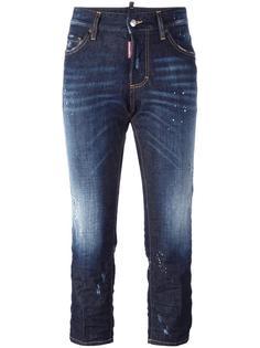 джинсы Boyfriend с эффектом разбрызганной краски  Dsquared2
