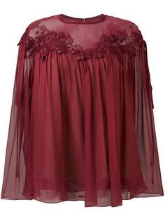 блузка с гипюровой вставкой Chloé