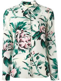 рубашка с цветочным узором  Burberry