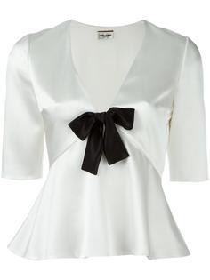 блузка с бантом Saint Laurent