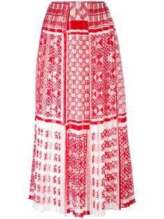 юбка макси с узором Fendi