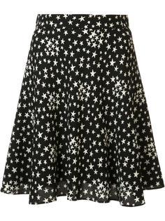 юбка с принтом звезд Saint Laurent