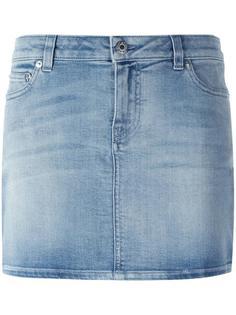 джинсовая юбка мини с принтом звезд Givenchy