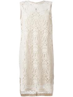 кружевное платье без рукавов DKNY