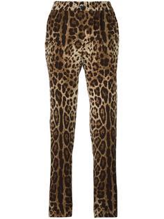 пижамные брюки с леопардовым узором Dolce & Gabbana