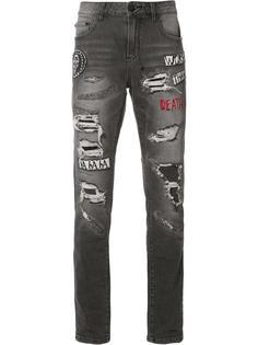 рваные джинсы кроя скинни Haculla