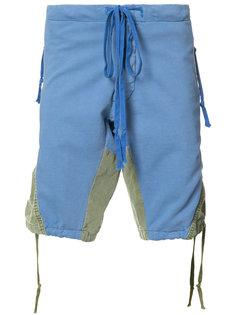 шорты с контрастными панелями Greg Lauren
