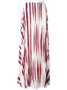 плиссированная юбка с зебровым узором Tory Burch