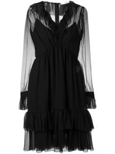 платье с рюшами Givenchy
