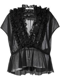 полупрозрачная блузка с оборками Givenchy