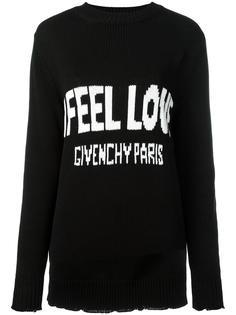 трикотажный джемпер с принтом Love Givenchy