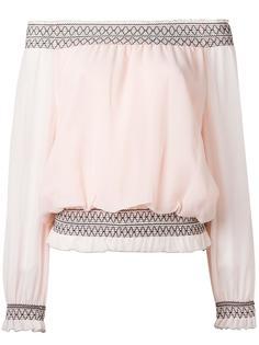 блузка с открытыми плечами Tory Burch