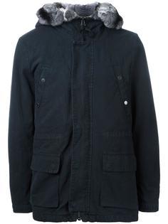 куртка с капюшоном и накладными карманами Yves Salomon