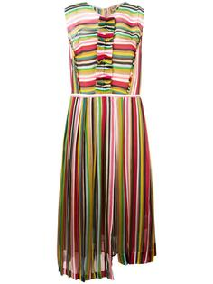 плиссированное платье в полоску Nº21