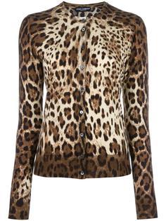 кардиган с леопардовым узором Dolce & Gabbana