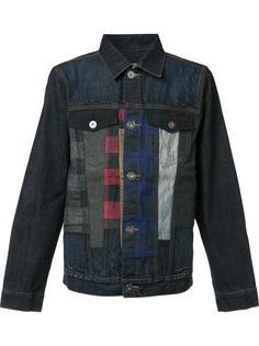 джинсовая куртка с окантовкой в клетку Mostly Heard Rarely Seen