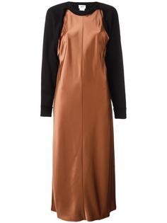 атласное платье-толстовка DKNY