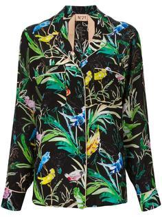 блузка с растительным принтом Nº21