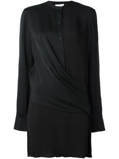 атласная блузка с драпировкой DKNY