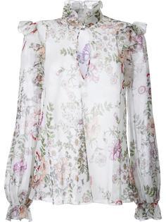 блузка с цветочным принтом Giambattista Valli