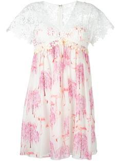 платье с цветочным кружевом Giamba