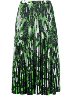 плиссированная юбка с цветочным принтом  Christian Wijnants