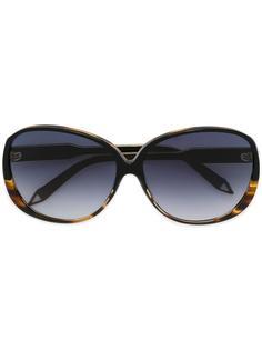 объемные солнцезащитные очки с эффектом черепашьего панциря Victoria Beckham