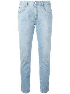 джинсы бойфренды со звездами и бахромой Stella McCartney