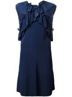 платье с оборками без рукавов Marni