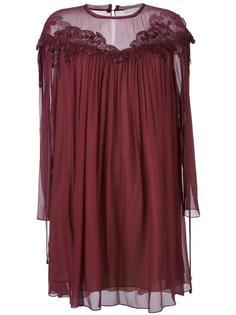 платье с вышивкой из вишен Chloé
