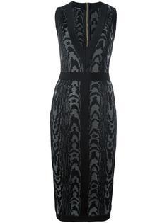 платье с леопардовым принтом   Balmain