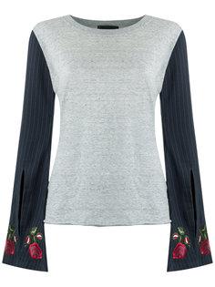 patchwork blouse Andrea Bogosian