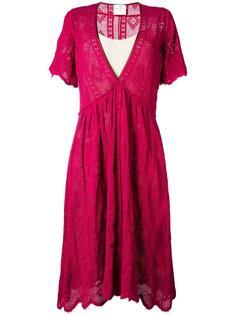 расклешенное платье c V-образным вырезом  Forte Forte