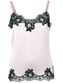 топ с кружевными вставками Dolce & Gabbana Underwear