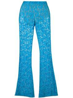 расклешенные кружевные брюки Moschino
