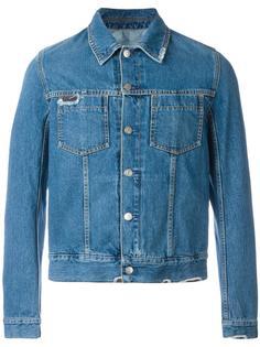 джинсовая рубашка с рваными деталями Maison Margiela